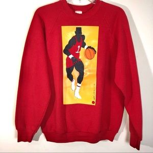 Vintage Sweatshirt with Basketball player